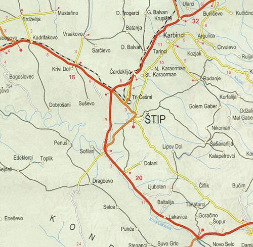 Meridian Ood Ptna Karta Makedoniya